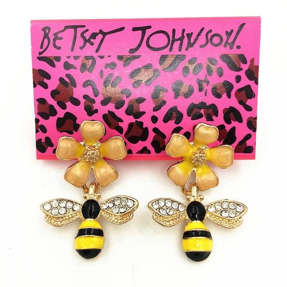 e3eab3b981701 Flower Bees Honeybee Ear Stud Earrings NWT
